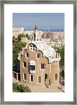 Barcelona Parc Guell Framed Print by Matthias Hauser