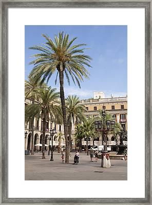 Barcelona Placa Reial Framed Print by Matthias Hauser