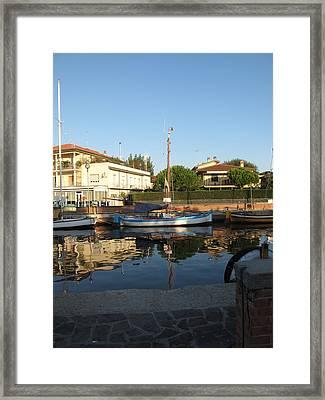 Barche Da Pesca Cervia Porto Framed Print