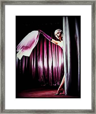 Framed Print featuring the painting Bardot by Mary Morawska