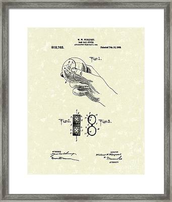 Bare Ball Curver 1909 Patent Art Framed Print by Prior Art Design