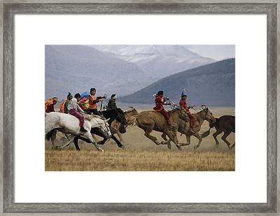 Bareback & Barefoot Colorfully Clothed Framed Print by Gordon Wiltsie