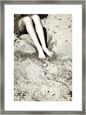 Barefoot In The Sand Framed Print by Joana Kruse