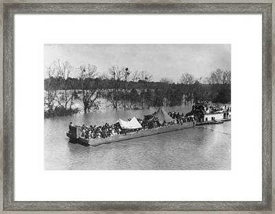 Barge Loaded With Poor African American Framed Print by Everett