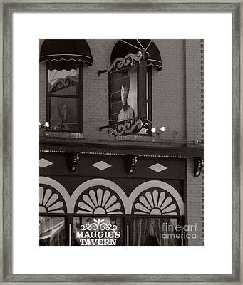 Framed Print featuring the photograph Barhopping At Maggies 1 by Lee Craig