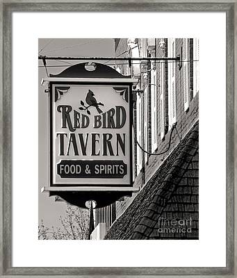 Framed Print featuring the photograph Barhopping At The Red Bird 1 by Lee Craig