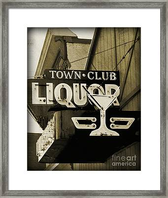 Framed Print featuring the photograph Barhopping At The Town Club 2 by Lee Craig