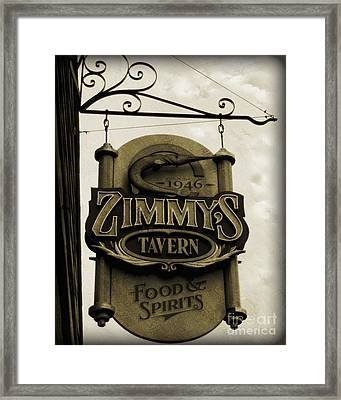 Framed Print featuring the photograph Barhopping At Zimmys 2 by Lee Craig
