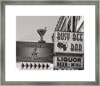 Framed Print featuring the photograph Barhopping Cadillac Style 1 by Lee Craig