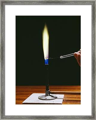 Barium Flame Test Framed Print by Andrew Lambert Photography