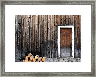 Barkerville Back Porch Framed Print by Calvin Wray