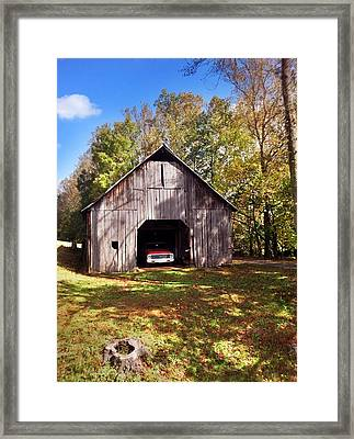 Barn An Chevy Framed Print by Janice Spivey