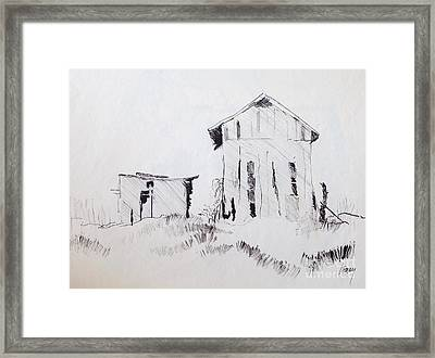 Barn And Shed Framed Print by Rod Ismay