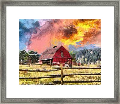 Barn And Sky Framed Print by Anthony Caruso