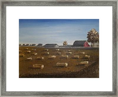 Framed Print featuring the painting Barn by Angela Stout