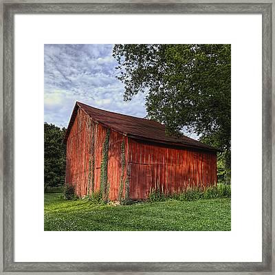 Barn At Avenel Plantation - Bedford Va Framed Print by Steve Hurt