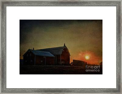 Barn At Sunset Framed Print by Joel Witmeyer