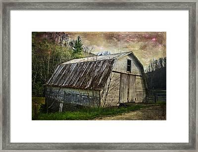 Barn At Twilight Framed Print