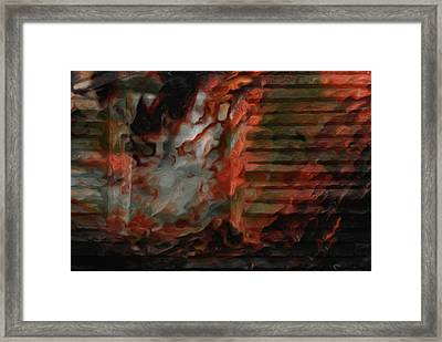 Barn Burning Framed Print by Jack Zulli