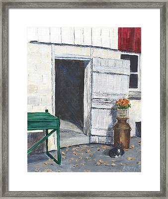 Barn Door At Country Creek Winery Framed Print