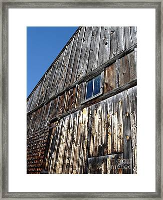 Barn End Looking Up Framed Print