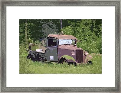 Barn Fresh Pickup Framed Print by Steve McKinzie