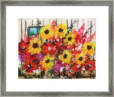 Barn Garden Framed Print by John Williams