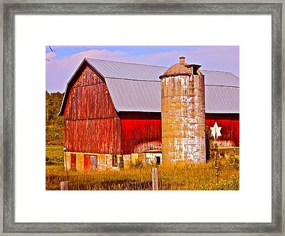 Barn In America Framed Print by Randy Rosenberger