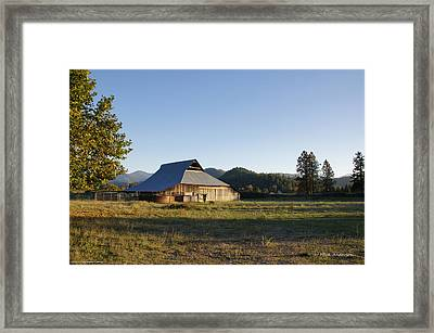 Framed Print featuring the photograph Barn In The Applegate by Mick Anderson