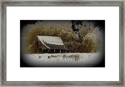 Barn In The Field Framed Print by Travis Truelove