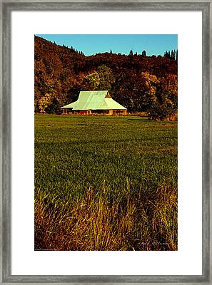 Framed Print featuring the photograph Barn In The Style Of The 60s by Mick Anderson