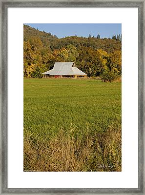 Framed Print featuring the photograph Barn Near Murphy by Mick Anderson