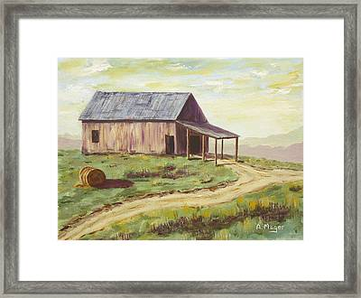 Barn On The Ridge Framed Print