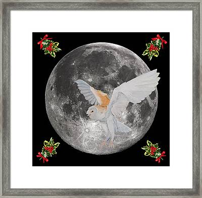 Barn Owl Christmas Framed Print