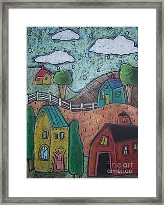 Barn Scene Framed Print by Karla Gerard
