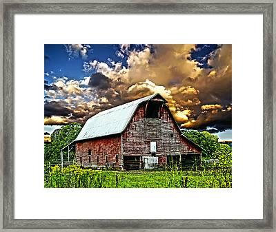 Barn Storming Framed Print by Randall Branham