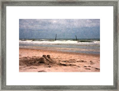 Barnacle Bill's And The Sandcastle Framed Print by Betsy Knapp