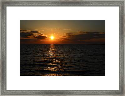 Barnegat Bay Sunset Framed Print
