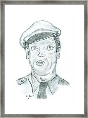 Barney Framed Print by Eric Jones