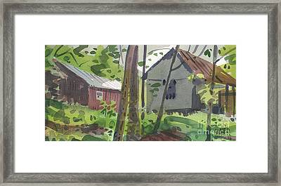 Barns 12 Framed Print by Donald Maier