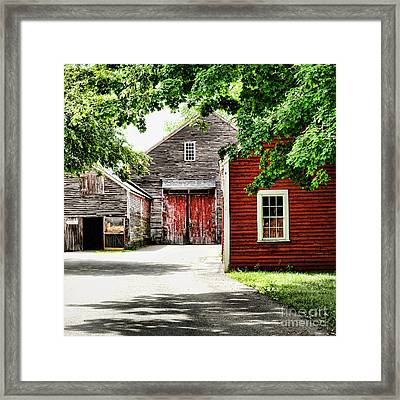Barns Framed Print by HD Connelly