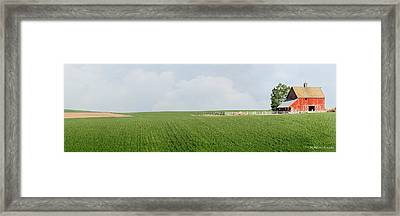 Barnscape Framed Print by Melisa Meyers