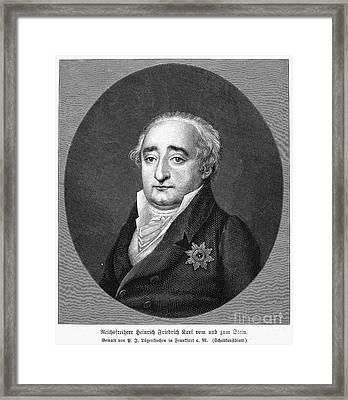 Baron Vom Und Zum Stein Framed Print