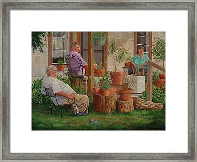 Framed Print featuring the painting Baron's Estate by AnnaJo Vahle