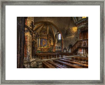 Baroque Church In Savoire France 2 Framed Print