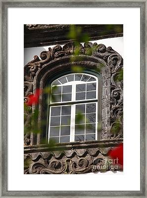 Baroque Style Window Framed Print by Gaspar Avila