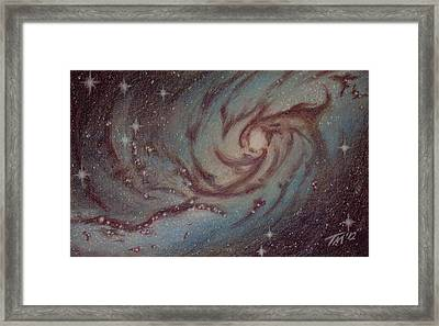 Barred Spiral Galaxy Ngc 1313 Framed Print by Thomas Maynard