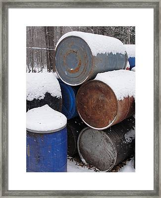 Framed Print featuring the photograph Barrel Of Food by Tiffany Erdman