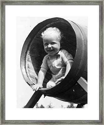 Barrel Of Laughs Framed Print