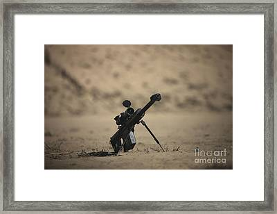 Barrett M82a1 Rifle Sits Ready Framed Print by Terry Moore